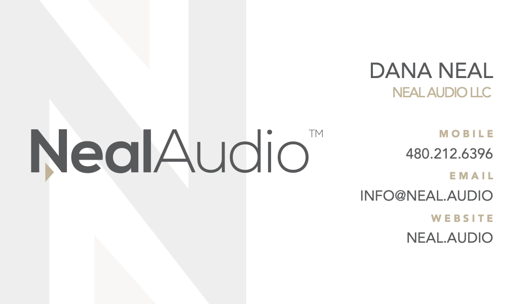 Neal Audio Business Card
