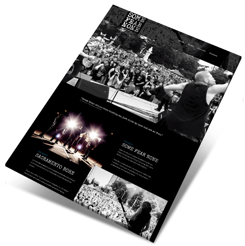 Some Fear None website design by Wicked Graphics